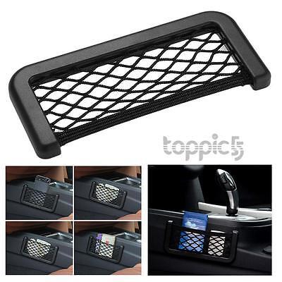 Car Net Bag Side Door Seat Storage Phone Holder Pocket Organizer Black