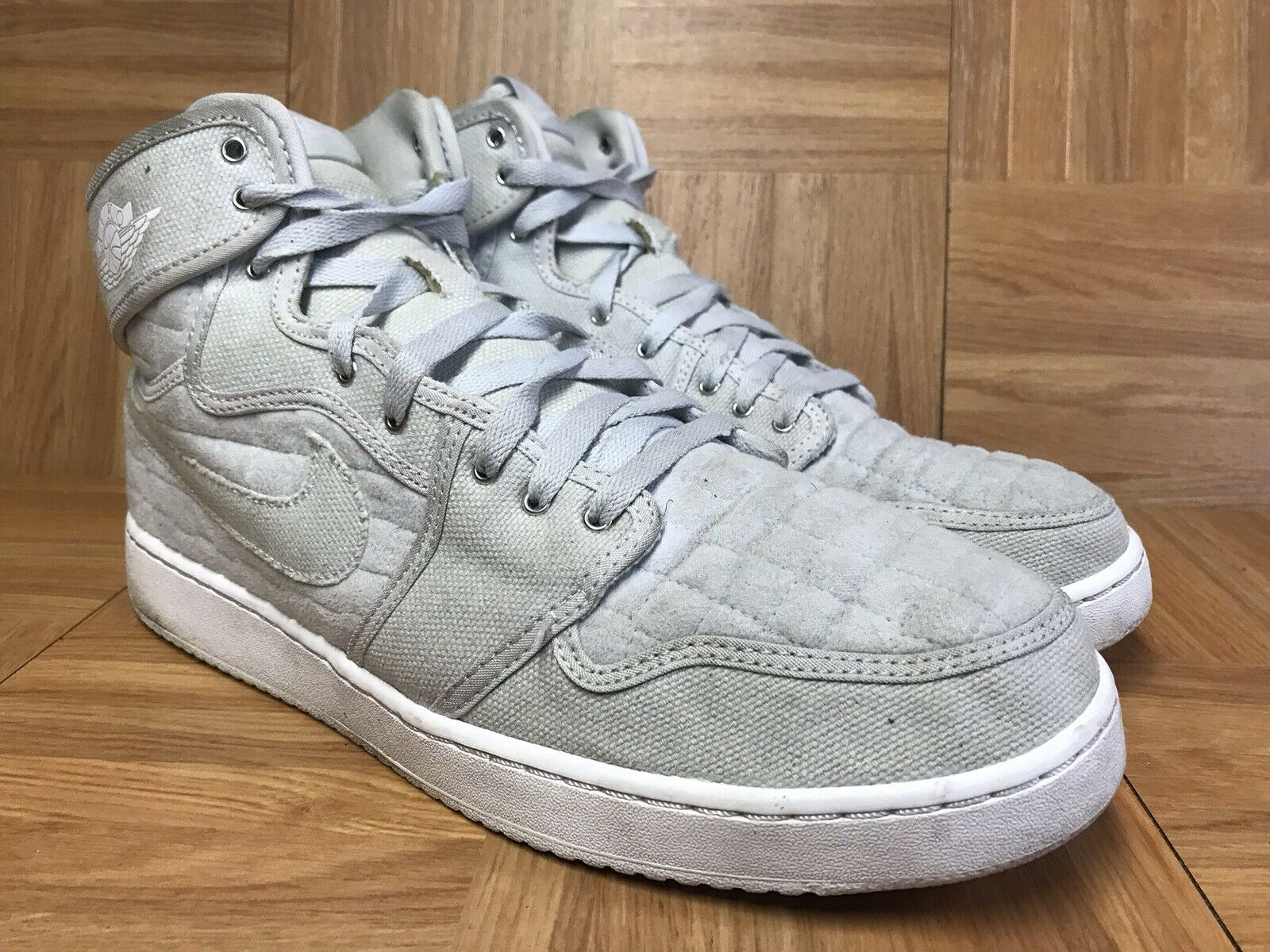 RARE Nike Air Jordan 1 KO OG Pure Platinum Quilt Silver AJKO Sz 12 638471-004