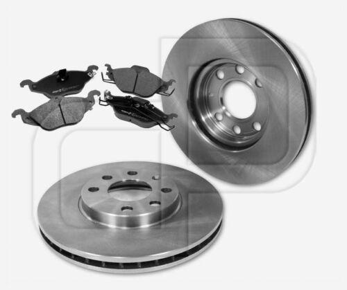 2 Bremsscheiben 4 Bremsbeläge OPEL Astra G 4-Loch Felge vorne 256 mm belüftet