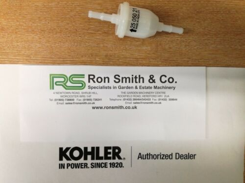 GENUINE KOHLER INLINE FUEL FILTER 2505021-S FREE FAST RECORDED DELIVERY