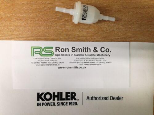 GENUINE KOHLER INLINE FUEL FILTER 2505021-S FREE FAST RECORDED DELIVERY