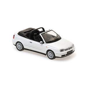 Maxichamps-940058330-VW-Golf-IV-Cabriolet-White-Scale-1-43-Model-Car-New