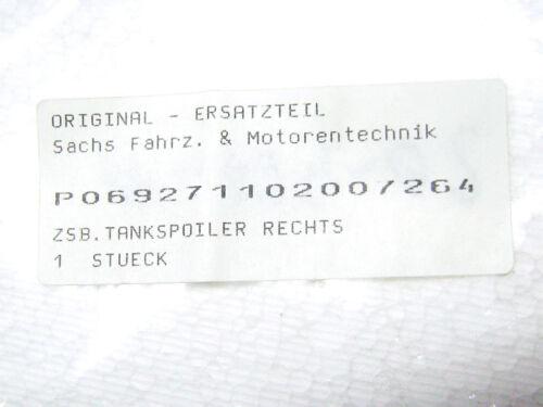 NEU ORIGINAL SACHS Tankspoiler rechts blau für ZX 125 ET P069271102007264