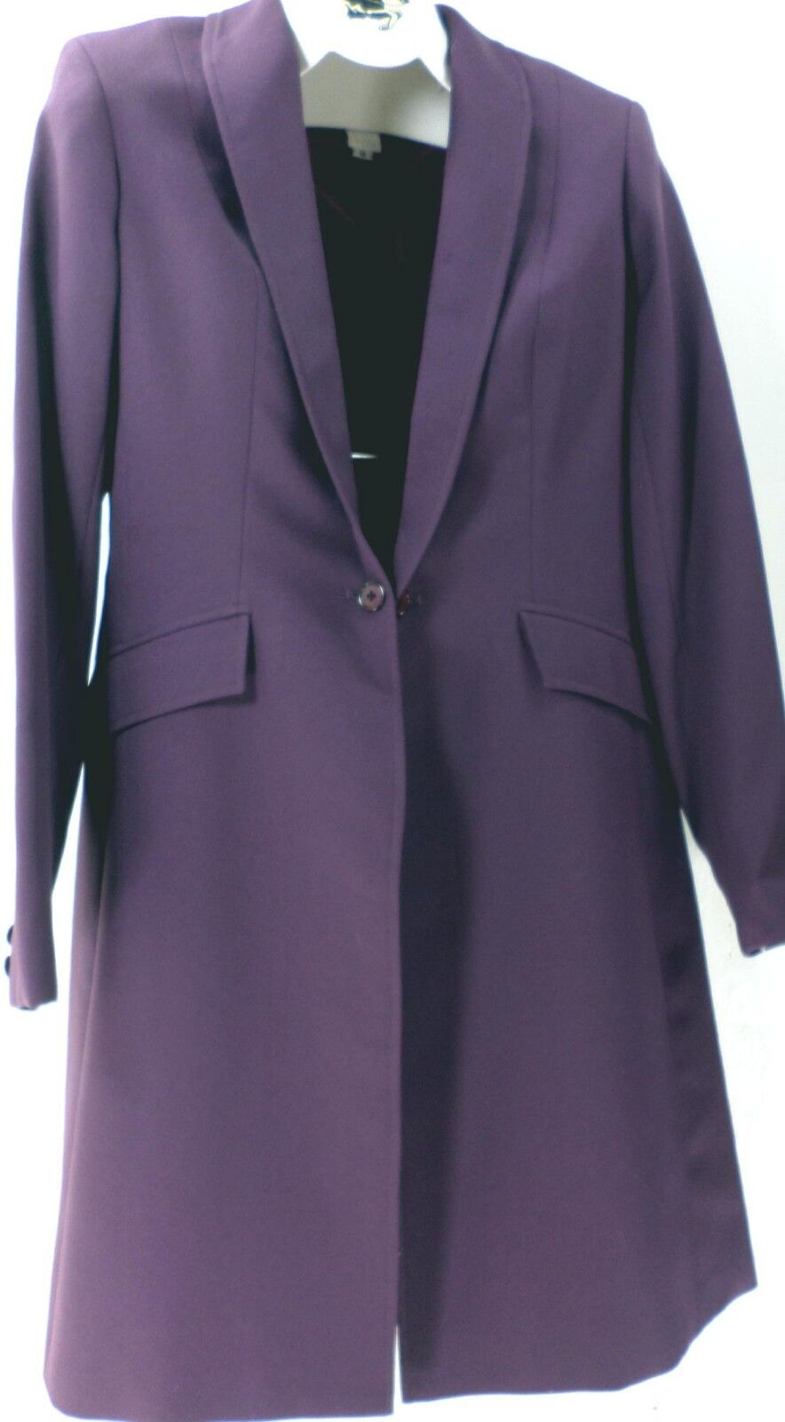 Reed Hill Saddleseat Day Coat Dark Plum Crepe Polyester  12 USA  cheap and high quality