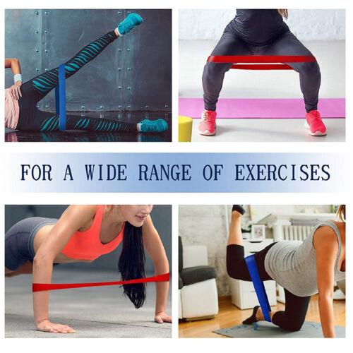 5Pcs//Pack Nature Latex Loop Resistance Bands Yoga Tension Elastic Rubber Band