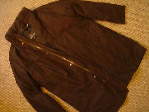 Mens London Fog black rain Parka Jacket sz M medium nwot polyester