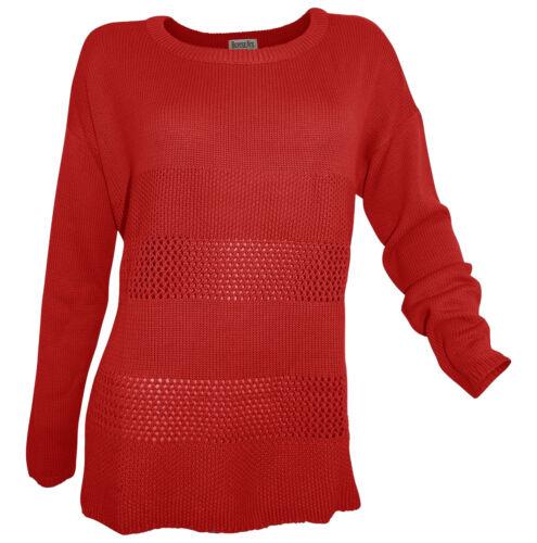 Jersey Boysen/'s 52 54 rojo suéter agujero truco patrón medianas finamente truco