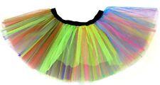 80s Costume Neon Arcobaleno Tutu-Adulti XXL 16-26