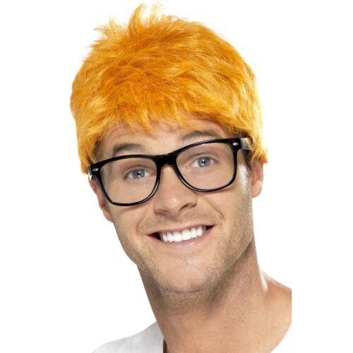 90s TV Host Kit Chris Evans Ginger Wig Glasses Mens Fancy Dress Accessory