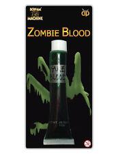 Realista GREEN Sangre Falsa Vampiro Drácula Zombie Sangre Halloween Vestido De Lujo