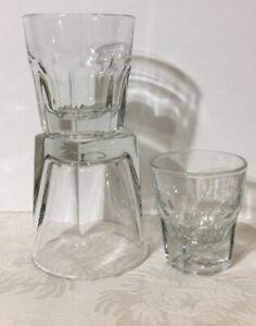 Set-Of-3-Vintage-Libbey-DuraTuff-Bar-Glasses-1-DOR-8-Oz-OR-amp-4-Oz-Neat
