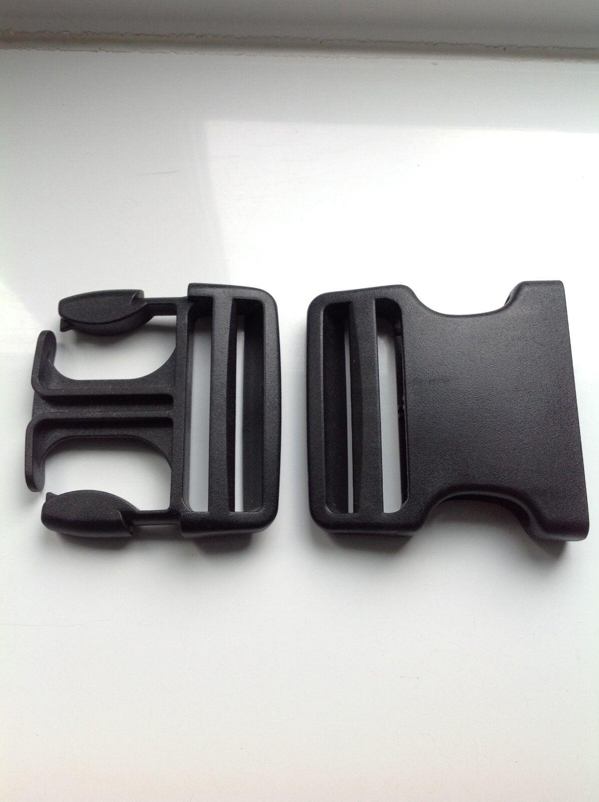 Pair of Classic Karrimor Side Release Buckle 25mm Black Nylon