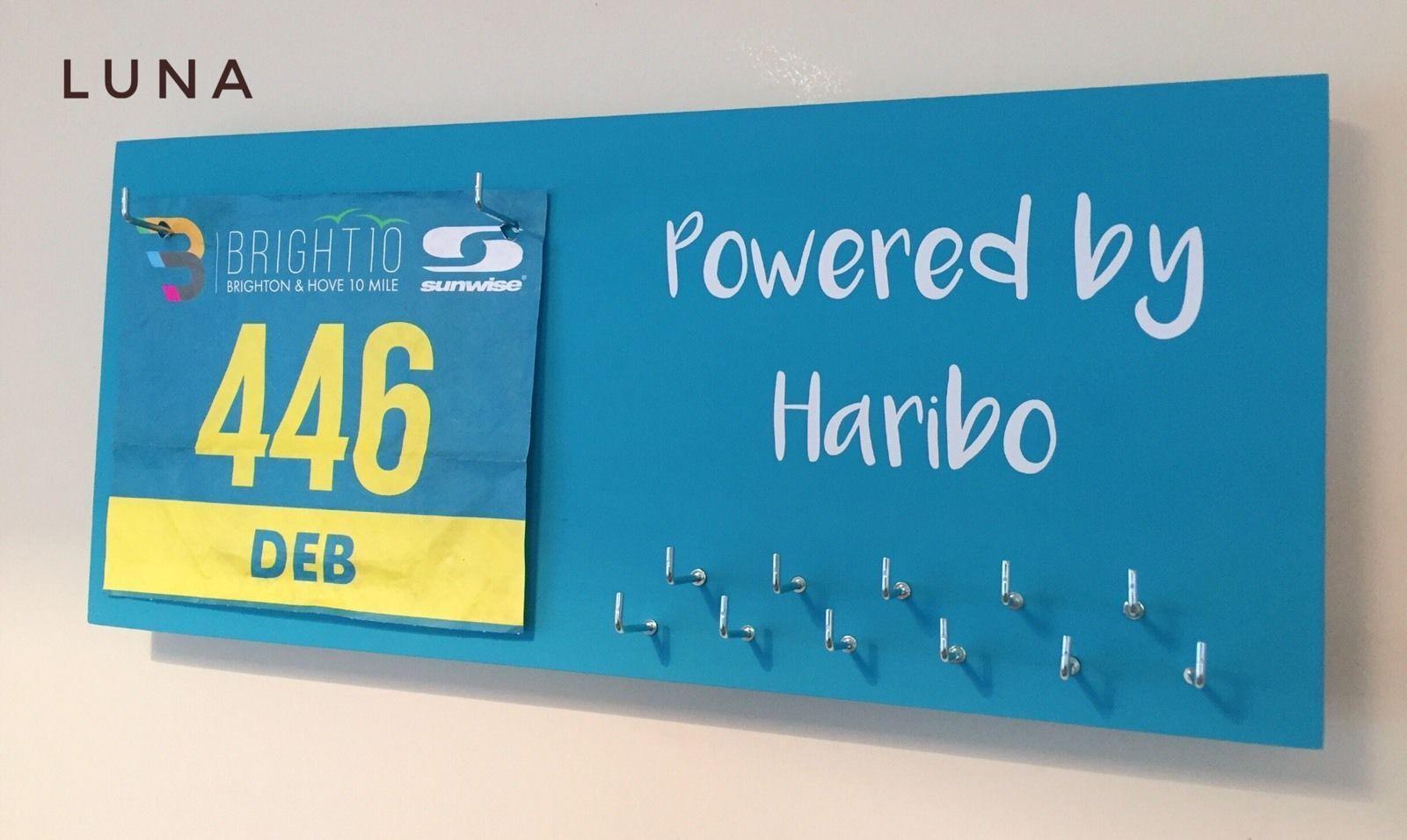Powered by Haribo  - Runner   Sports Medal & Bib hanger   holder  display