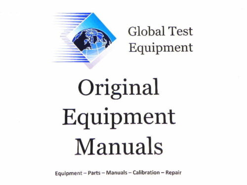Anritsu M-W0078AE-5.0 MN938A MN939A Operation Manual