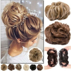 Details About Uk Women Girl Thick Nautral Chignon Bun Maker Scrunchie Hair Extensions