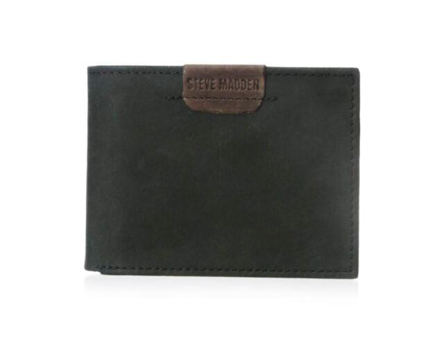 ec5d3b45df8 Steve Madden Dakota Black Genuine Leather Billfold Men's Wallet N80007
