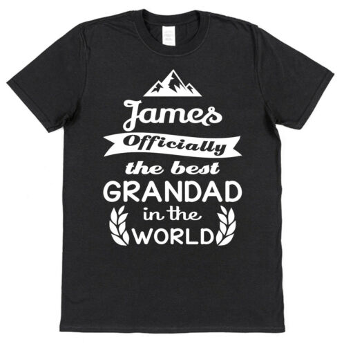 Personalised Officially The Best Grandad World T-Shirt Custom Name Present