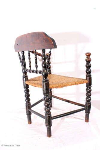 Ancien Norddeutscher capitaine Chaise Chaise de bureau armlehnstuhl joncs tissu