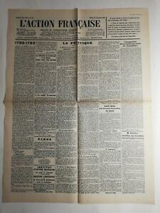 N322-La-Une-Du-Journal-L-039-action-francaise-31-Janvier-1933-1789-1792-la-politique