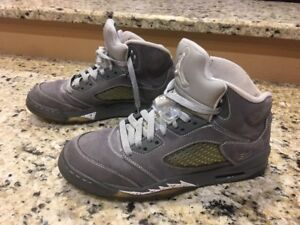 buy popular ca572 fab3e Image is loading Nike-Air-Jordan-5-Retro-GS-034-Wolf-