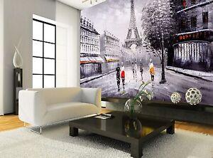 Oil Painting Paris Wall Mural Photo Wallpaper GIANT WALL DECOR