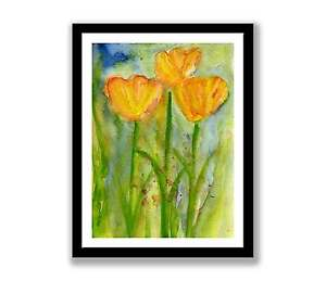 Tulips-watercolour-abstract-painting-unique-gift-Print-ID-151