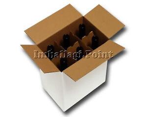 15 Pezzi Scatola Cartone Spedizione 6 Bottiglie - Vino - Liquori Con Separatore Petit Profit