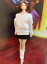 """1//12 Scale Female Clothes Fashion Top/&Skirt/&Socks 2 Colors F 6/"""" Action Figure"""