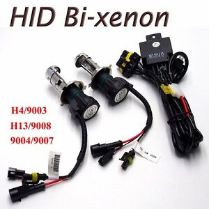 Details about Hi/Lo bi xenon HID relay harness wire wiring H4 H13 9003 on