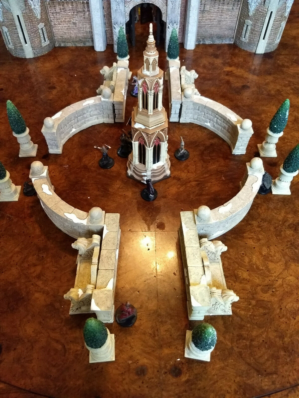 Riesige innenhof tempel 21 stück.rollenspiel d & d - terrain pathfinder - magier warhammer schloss