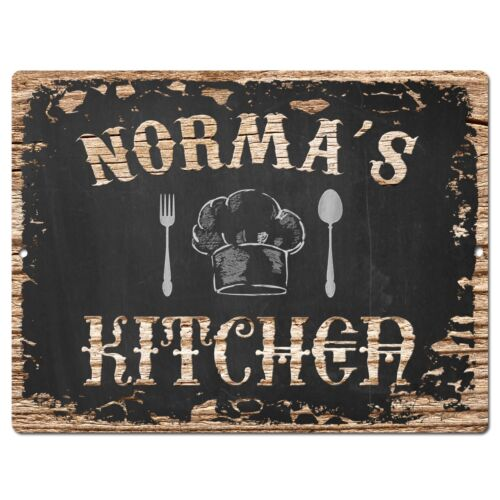 PP1783 NORMA/'S KITCHEN Plate Chic Sign Home Kitchen Decor Birthday Gift