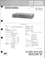 Sony Original Service Manual per ST-S 320