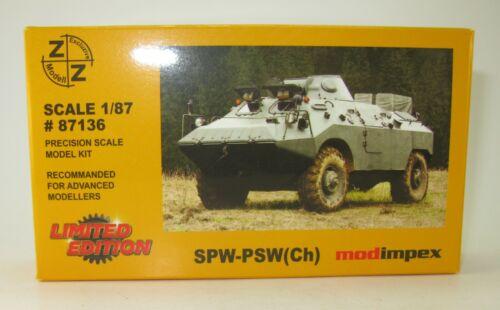 APC Z/&Z Exclusive Modell-bausatz #87136 SPW-PSW Ch 1:87 HO NEU