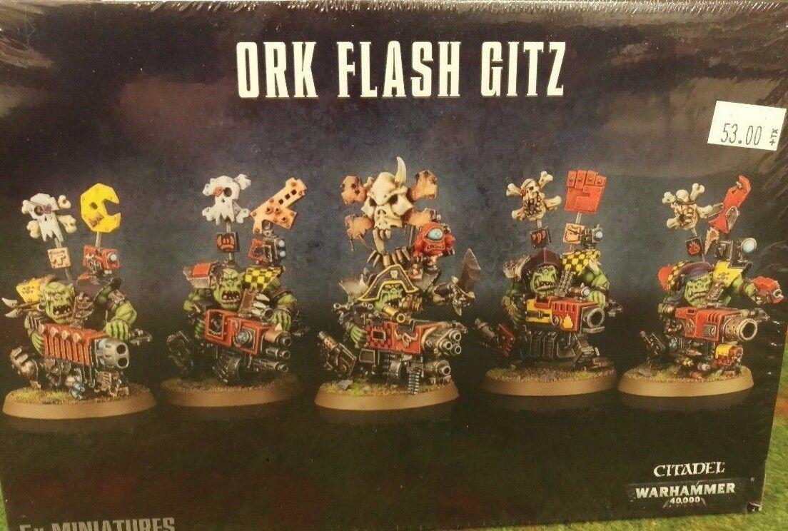 Warhammer 40K ORK FLASH GITZ (5x (5x (5x Orks Freebooter Gits) New Sealed 95c63a