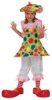 Childrens Clown Girls Fancy Dress Costume Circus Clowns