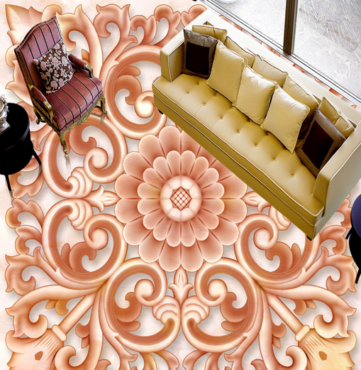 3D Classic Flower Art 7866 Floor WallPaper Murals Wall Print Decal 5D AU Lemon