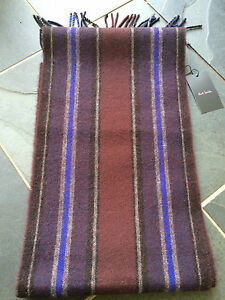 Paul Smith 100% Lambs Wool Thick Scarf
