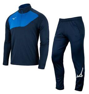Details about  /Mizuno Men GIMO 1//2 Zip Suit Set Blue Navy Soccer Jacket Pant Jersey P2MC0K5282