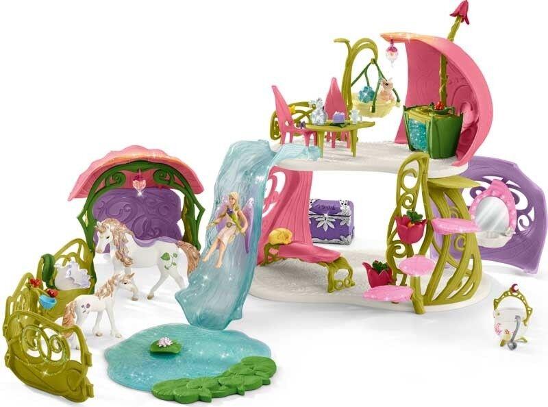 Scheich Scintillante Fiori casa con gli unicorni 42445-Playset-GIRL 'S Giocattolo - 3 +