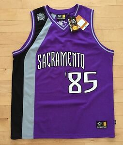sports shoes 98c95 c57d5 Details about NWT NBA Sacramento Kings Purple Jersey Number 85. XL