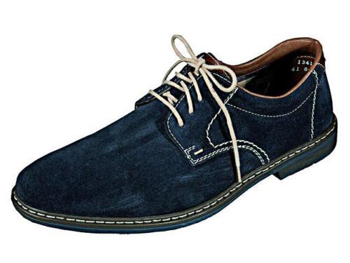 Rieker Chaussures Basses Velour Cuir Business Lacets Bleu 13410-16 40-46 neu4