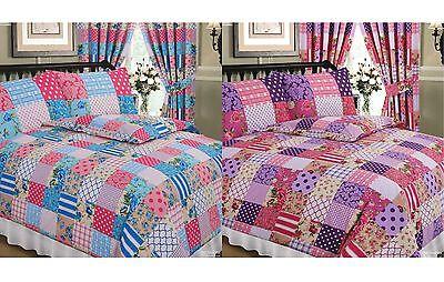 Bettwäsche Nachdenklich Flickwerk Blumen Gepunktet Strohdach Tartan Violett Rosa Blau Bettwäsche Set Bequem Zu Kochen