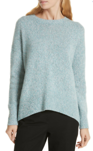 High Sweater Signature Nwt 299 Low 439080934415 Cashmere Tweed Nordstrom Aqua Røg Xl 6SUqEw6H