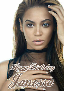 Personalised beyonce birthday card ebay image is loading personalised beyonce birthday card bookmarktalkfo Image collections