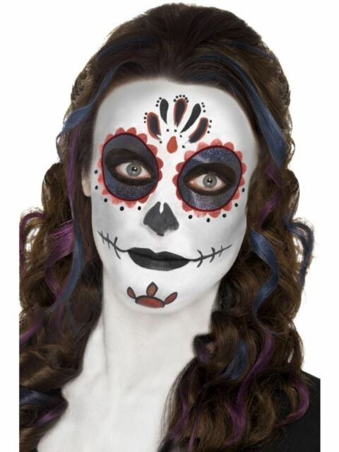 Day of the Dead Make Up Kit,Face Paints,Cosmetics and Disguises, Fancy Dress
