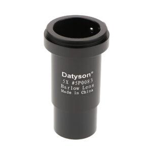Metal-1-25-034-31-7mm-5X-Barlow-Lens-M42-Thread-for-Telescope-Eyepiece-Black