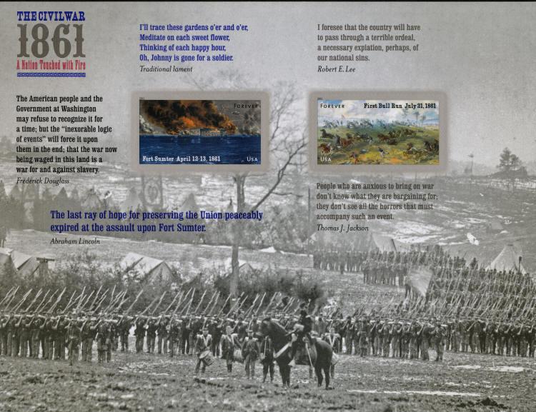2011 44c Civil War 1861 Fort Sumter & Bull Run Scott 45