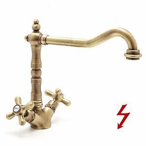 Art 700 BPVO | Alt Bronze | Niederdruck Wasserhahn Nostalgie Retro ...