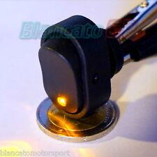 INTERRUTTORE A BILANCIERE con LED GIALLO 12V 30A DC  [ switch camper auto moto ]