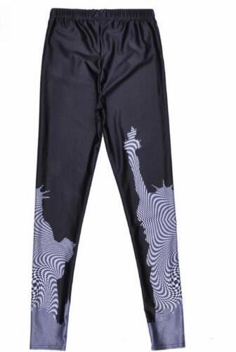 Woman legging Black /& White Zebra Castle printed legging S-4XL elastic legging